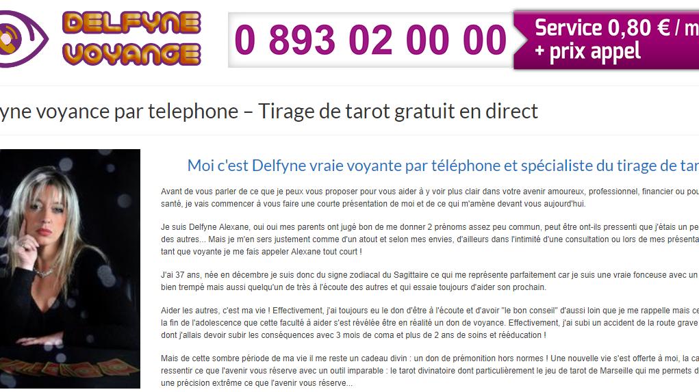 66829759e580a7 Voyance Delfyne, spécialiste de la voyance par téléphone   Solicites
