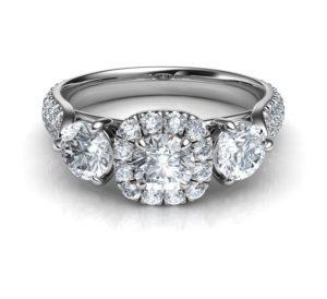 Trois Diamants Bague, Bague De Fiançailles