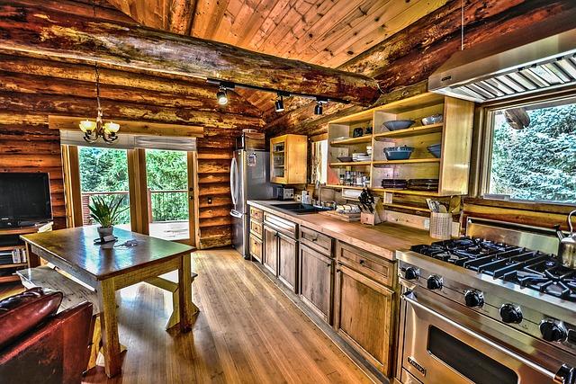 jolie cuisine en bois